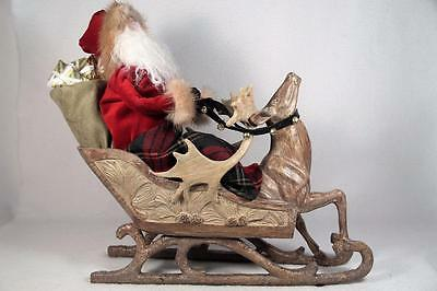 Byers' Choice 'Storybook Santa' In Reindeer Sleigh - 2015 #ZSS11 LE LARGE NEW
