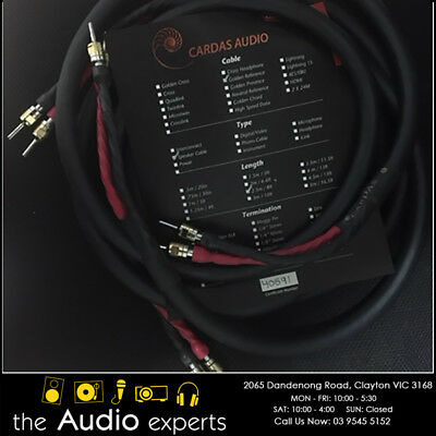 Cardas Golden Reference Speaker Cable 2.5m pair (perfect condition)