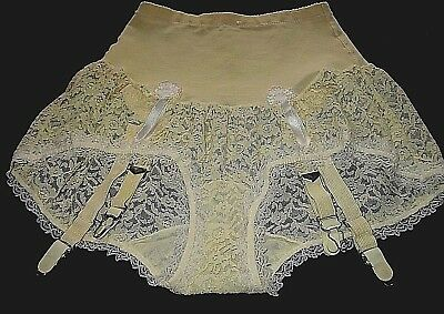 "Vintage 60's ""olga Pretty Partner"" High Waist Bubble Pantie Panty Lace Small"