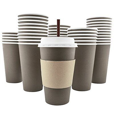 AckBrands cdy-385 100 Pack - 16 Oz 8 12 20 Disposable Hot Paper Coffee Cups ...