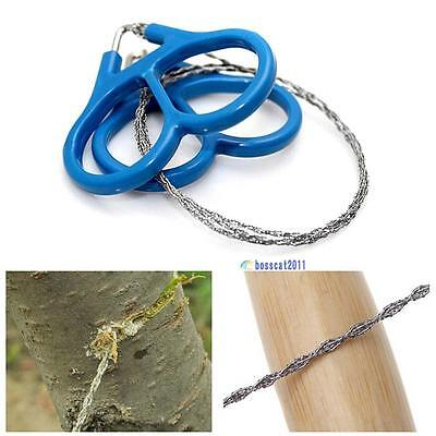Outdoor Steel Wire Saw Scroll Emergency Travel Camping Hiking Survival Tool PQ