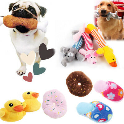 Pet Puppy Chew Squeaker Squeaky Plush Sound Pig Elephant Duck For Dog Toys Hot