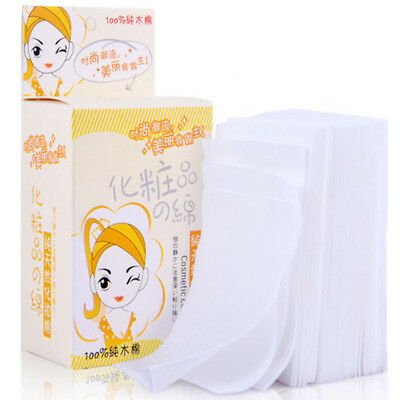 100PCS Soft Wipes Disposable Facial Cleansing Cotton Tissue Pad Makeup Remover