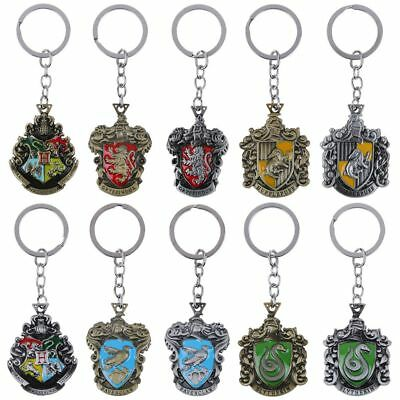 Harry Potter Hogwarts Crest Keychain Metal School Badge Keyring Collectable Gift