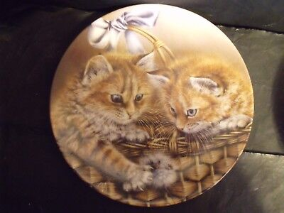 JUSTIN & JESSICA CAT PLATE by ALEXEI ISAKOV - 5th in BASKETS OF LOVE SERIES