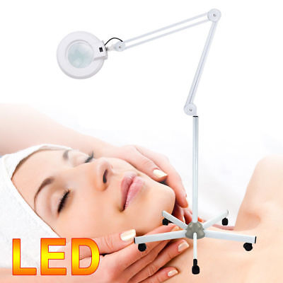 Magnifying Lamp Glass Lens Round Head 36 LED Light 8xMagnifier Standing Lamp AU
