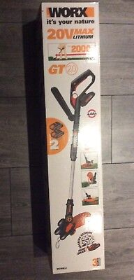 WORX WG169E.2 20 V 2 Ah Lithium-Ion Cordless Grass Trimmer With 2 Battery Packs