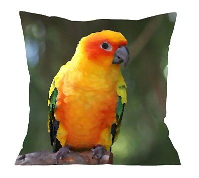 Parrot Photo Printed High Quality Double Sided Cushion Cover 18 x 18