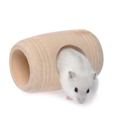 Wine Cask Design Wooden Bed House Cage Toy for Pet Rat Hamster Mouse Pet 1PC 6A