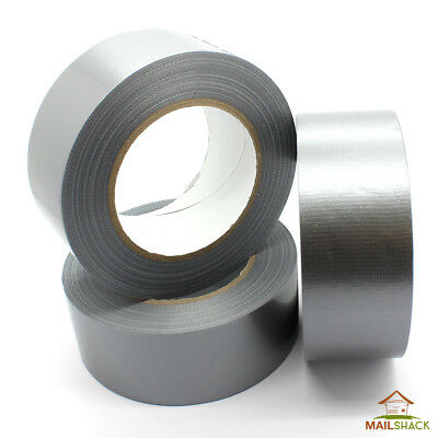 Silver DUCT Gaffa Cloth Tape | WATERPROOF & VERY STRONG | 48mm x 50m