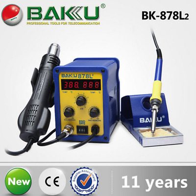 700W 2in1 Soldering Iron Station Safe Welding Tool Hot Air Gun Two LED Digital