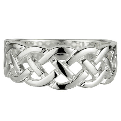 New Celtic Knot Ring Sterling Silver Made in Ireland Solvar