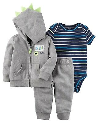 Baby Boy Carter's 3-pc. Jacket Bodysuit Pant Set Outfit 3 6 9 12 18 24 Month NEW