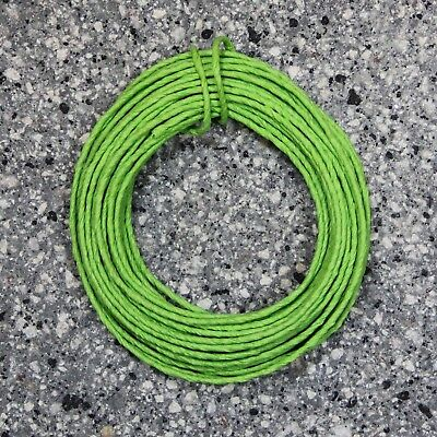 Lime Green 2mm Paper Covered Iron Wire - 10 Metre Coil