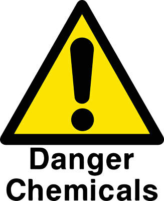 Danger Chemicals Metal Sign Work Health & Safety Factory Sizes Available