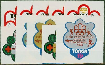 Tonga 1976 Olympics Games 1st Participation set of 10 SG558-567 Fine MNH