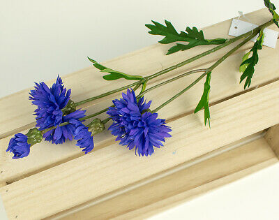 Artificial Fabric Blue Silk Cornflower Spray for Floristry Crafts
