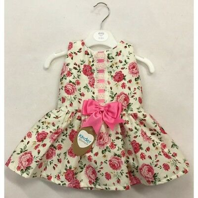 Kinder Baby Girls Spanish Style Romany Drop Waist Vintage Roses  Dress SS'18