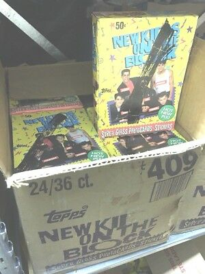 NEW KIDS ON THE BLOCK 1989 Topps 36 Count Wax Pack Box Free Shipping!