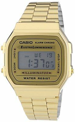 Casio Unisex Collection Digital Watch with Stainless Steel Bracelet A168WG-9EF