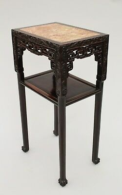 Chinese Huanghuali & Marble Top Table