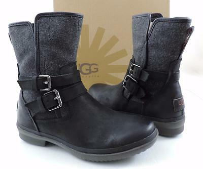 18bb7613897 WOMEN'S SHOES UGG Australia SIMMENS Weatherproof Leather Boots Black Size  6.5