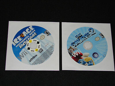 Lot of 2 NINTENDO Wii GAMES -  SMURFS 2 + ICE AGE    ****LOW PRICE****