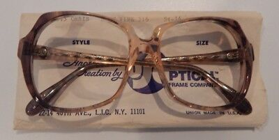 Vintage US Optical Chris Blue Wine 54/16 Ladies Plastic Eyeglass Frame NOS  #243