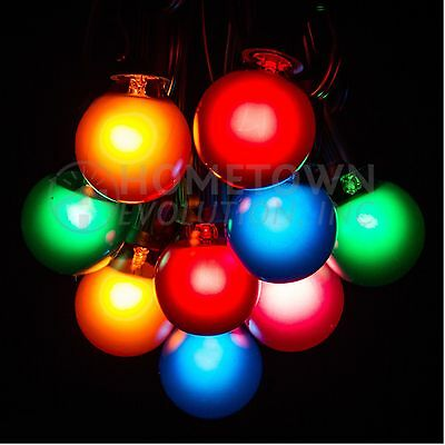 G40 Assorted Satin Outdoor Globe Patio String Lights (25', 50' and 100' Lengths)