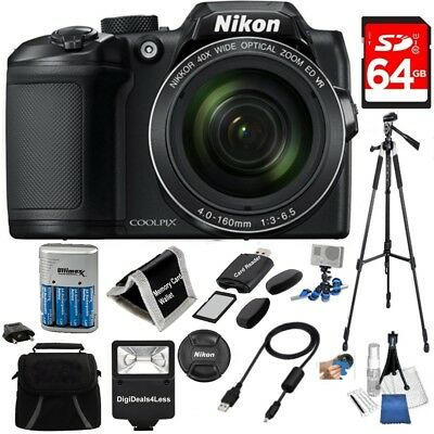 Nikon COOLPIX B500 16MP 40x Optical Zoom Digital Camera 64GB Bundle+MORE!