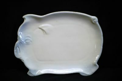 Classic Style Ceramic White Pig Plate Serving Dish Country Farm Party Decor