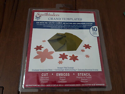 Spellbinders Shapeabilities Dies Hexagon Petal Box S6-147 Stanzschablonen