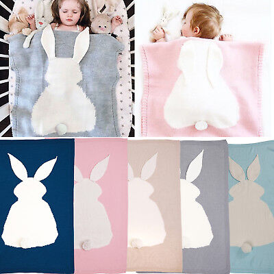 Bunny Kids Baby Napping Blanket Rabbit Bedding Towel Cover Throws Wrap Soft Cute