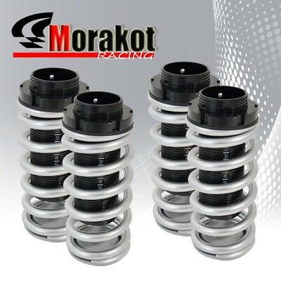 90-97 Accord 92-96 Prelude Adjustable Coilover Lowering Springs Dual Lock Sliver