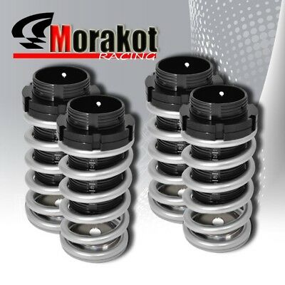 Silver Black Sleeve 93-97 Golf Mk3 Adjustable Coilover Lowering Spring Dual Lock