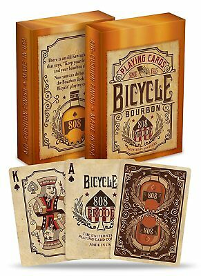 1 Deck Bicycle Bourbon Standard Poker Playing Cards Brand New Deck