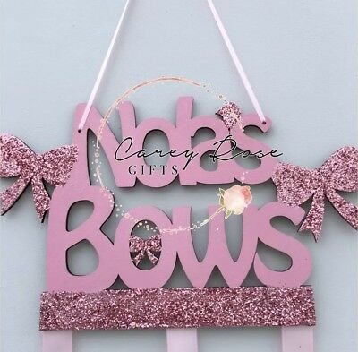 Hair Bow Holder Personalised Any Colour to suit your girls room decor