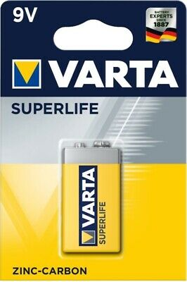 Varta 9V SUPERLIFE Zinc Carbon E-Block 6F22 Battery. Varta Quality