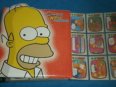 THE SIMPSONS Topps Trading Cards 1990: Complete Set w/Homer Simpson Binder 2001