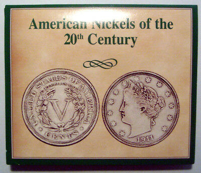 """American Nickels of the 20th Century 4 Coin Set Liberty """"V"""" Buffalo Silver WWII"""
