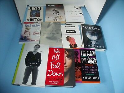 Lot Of 10 Recovery Addiction Memoirs*junky*wasted*we All Fall Down*smashed