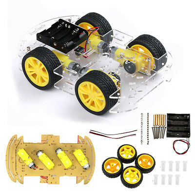 Smart Car Tracking Motor Robot 4WD Chassis Kit With Speed Encoder For Arduino