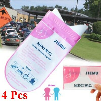 Portable Pee Urine Bag 700ml Emergency Mini Toilet WC Outdoor Camping Car Travel