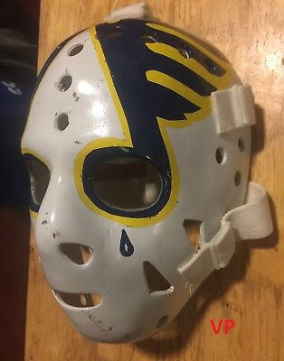 ED STANIOWSKI St.Louis Blues full size NHL Hockey Goalie Mask by Don Scott
