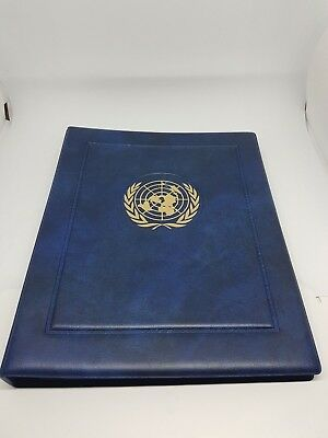Vintage United Nations FDC/Postcard/Notes Album Empty with 19 Inserts 76 Spaces