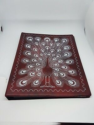 """Vintage """"Peacock"""" FDC/Postcard/Notes Album Empty with Inserts"""