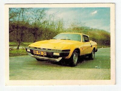 Sanitarium Weetbix - Fast Wheels (1977) - Collector Card #1 Triumph TR7
