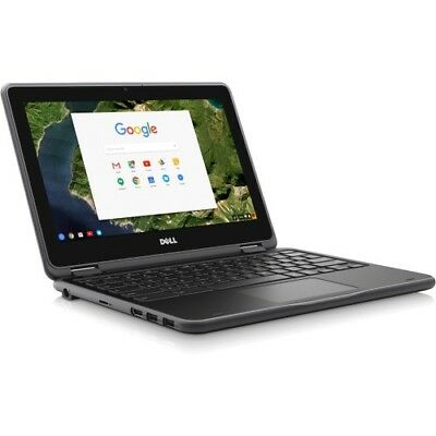 Dell 3189 11.6  Touchscreen Intel Celeron IPS LCD 2 in 1 Chromebook 4GB 64GB SSD