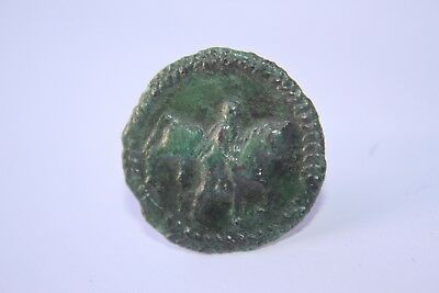 ANCIENT ROMAN BRONZE DECORATIVE EQUESTRIAN FITTING/NAIL 1/2nd CENTURY AD