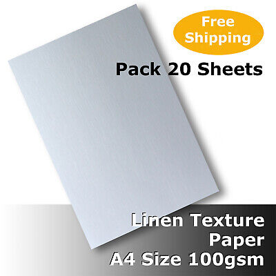 50 Sheets Linen Texture Finish Paper A4 Size 100gsm Quality White #H6011 #D5